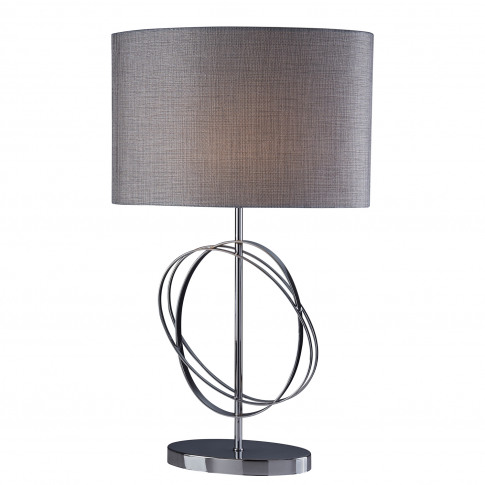 Searchlight Coventry Table Lamp, Chrome/Silver
