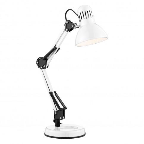 Searchlight Desk Partners Hobby Table Lamp, Shiny White