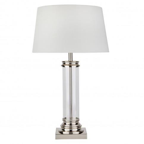 Searchlight Pedestal Table Lamp, Cream