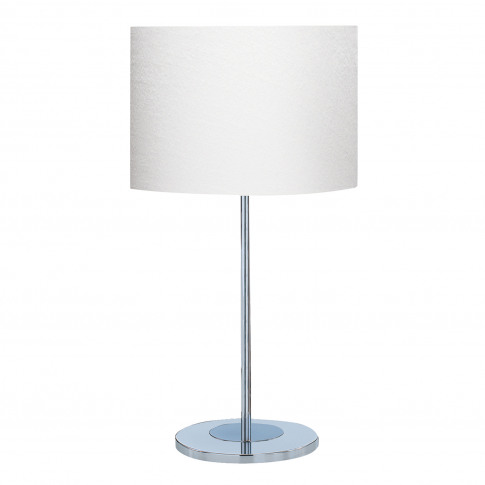Searchlight Drum Table Lamp, Chrome/Ivory
