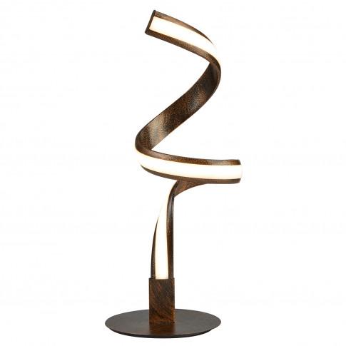 Searchlight Ribbon Led Twist Table Lamp, Rustic Blac...