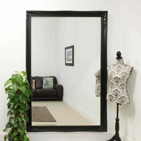 Mirror Outlet Buxton Black Mirror