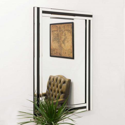 Mirror Outlet Dalton Mirror, Black