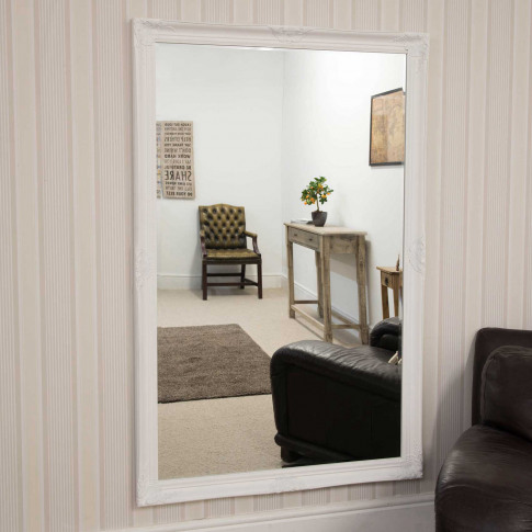 Mirror Outlet Kingsbury Classic Large Mirror, White