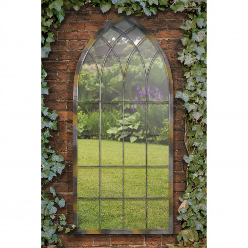 Mirror Outlet Rustic Arch Garden Mirror, Natural
