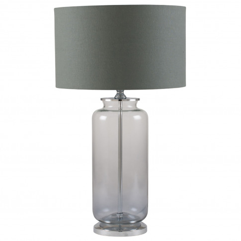 Pacific Ombre Glass Table Lamp, Grey