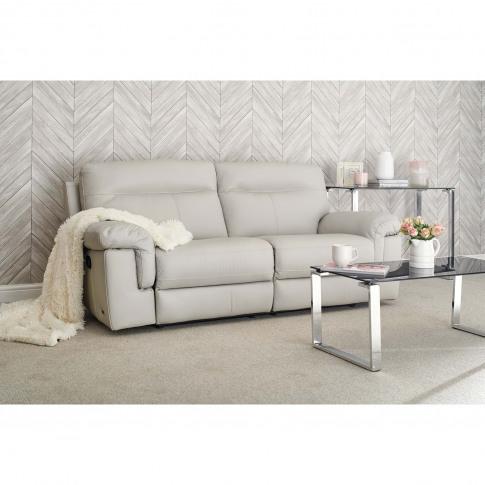 Casa Louis Manual Recliner Leather Sofa