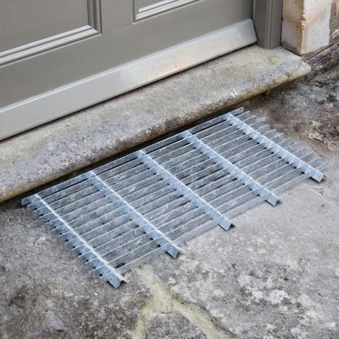 Garden Trading Doormat, Large, Galvanised Steel
