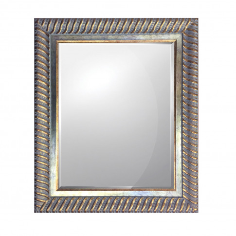 Midland Rope Design Mirror, Silver