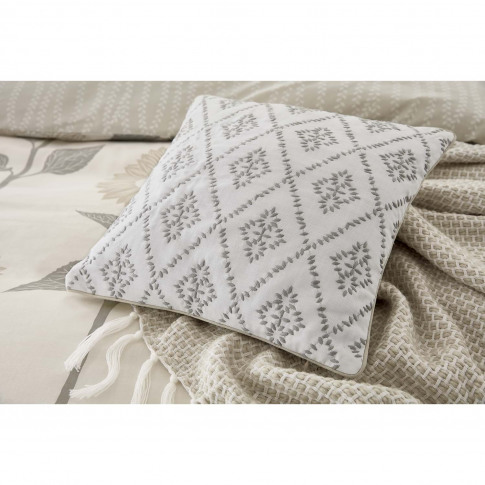 Sanderson Sundial Cushion, 40x40cm, Grey