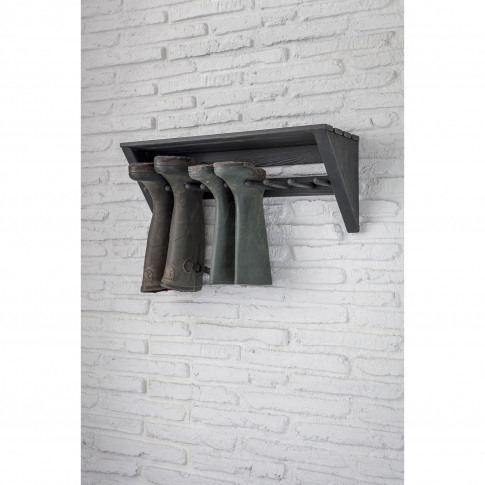 Garden Trading Latchmere Welly Rack, Pine, Carbon
