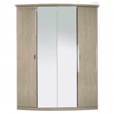 Casa Lucy 4 Door Mirrored Wardrobe
