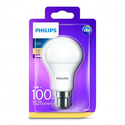 Phillips 100w A60 Classic Led B22 Light Bulb, Warm W...