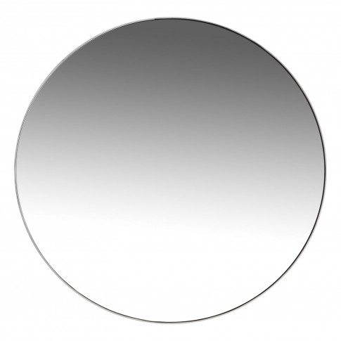 Casa Round Simple Mirror, Silver