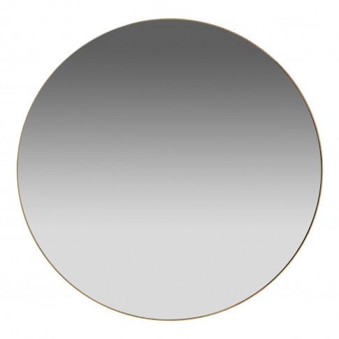 Casa Round Simple Mirror, Gold