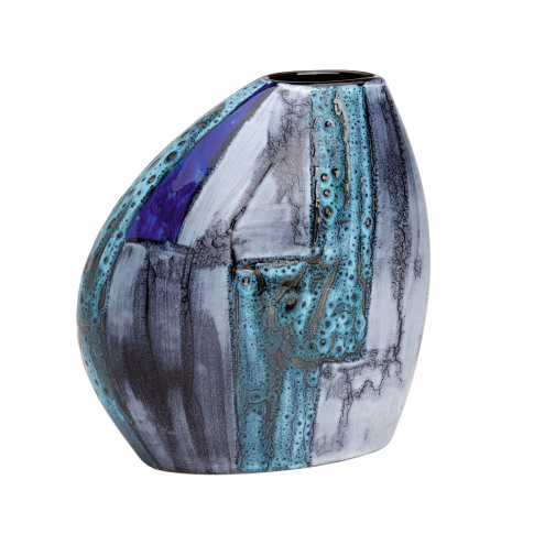 Poole Pottery Lapis Asymmetrical Bean Vase, Grey