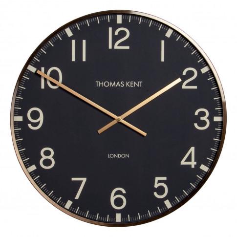 "Thomas Kent 21"" Clocksmith Brass Framed Wall Clock, ..."