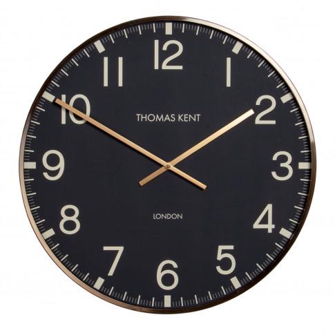 "Thomas Kent 30"" Clocksmith Brass Framed Wall Clock, ..."