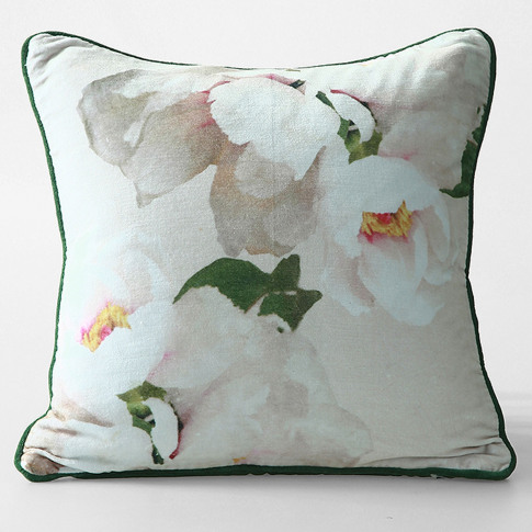 M.M Linen Blush Cushion, 45cm X 45cm, Blush
