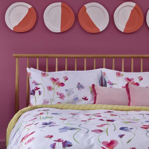 Bluebellgray Sweet Pea Pillowcase 50 X 75cm, White