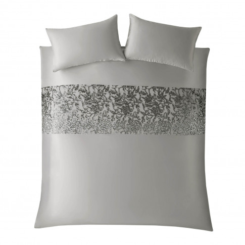 Kylie Minogue Angelina Duvet Cover, Double, Grey