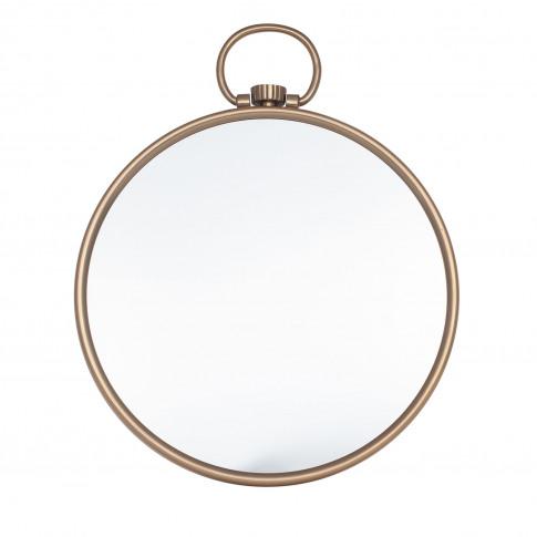 Pacific Lifestyle Antique Brass Round Wall Mirror