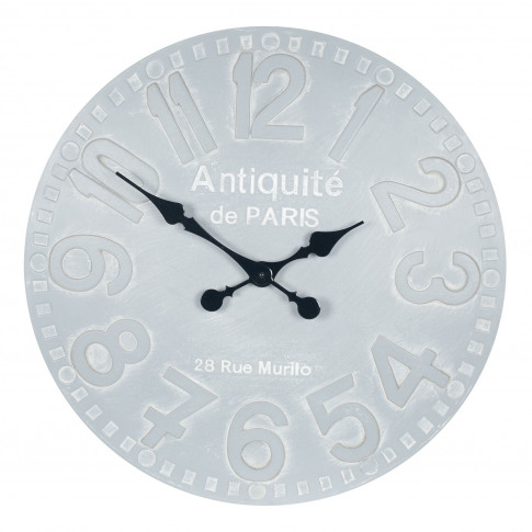 Pacific Lifestyle Stone Grey Wood Round Wall Clock