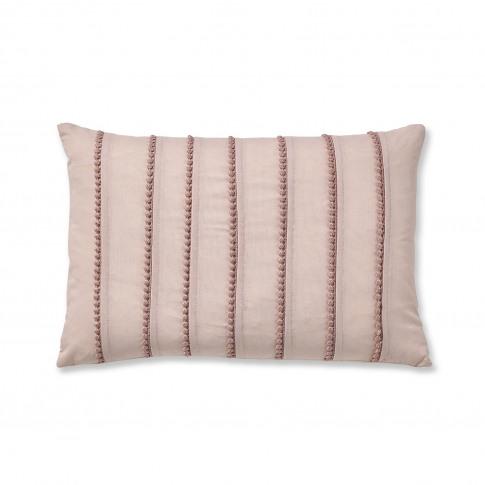 Catherine Lansfield Pom Pom Cushion, 30cm X 40cm, Blush
