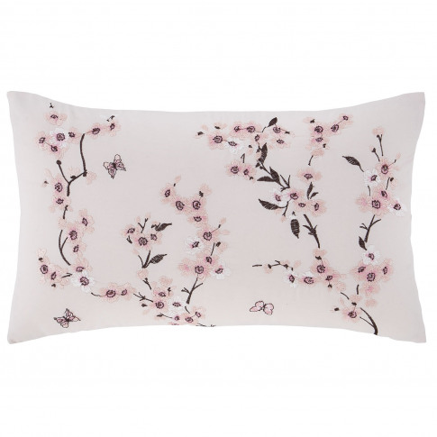 Catherine Lansfield Embroidered Blossom Cushion, 30c...