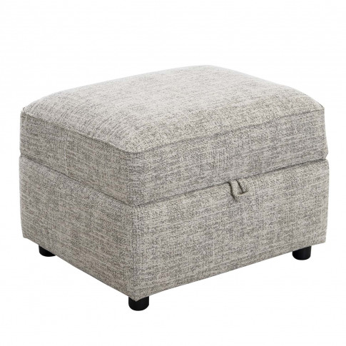 Casa Madison Storage Fabric Footstool, Unique Ivory