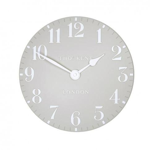 "Thomas Kent 12"" Arabic Wall Clock, Dove Grey"