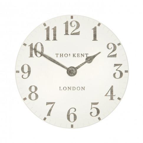 "Thomas Kent 12"" Arabic Wall Clock, Limestone"