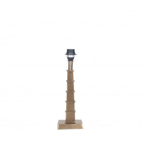 Casa Tapered Metal Lamp Base Medium, Antique Brass