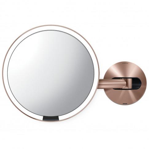 Simplehuman 20cm Wall Mount Sensor Mirror, Rose Gold