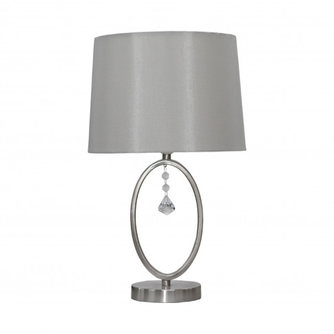 Casa Crystal Hanging Table Lamp, Silver