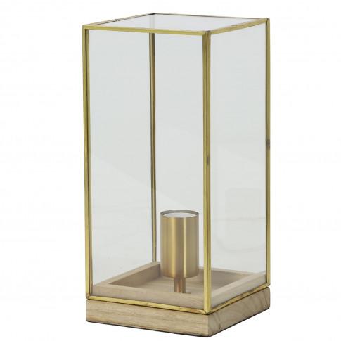 Light & Living Askjer Table Lamp, Natural Wood