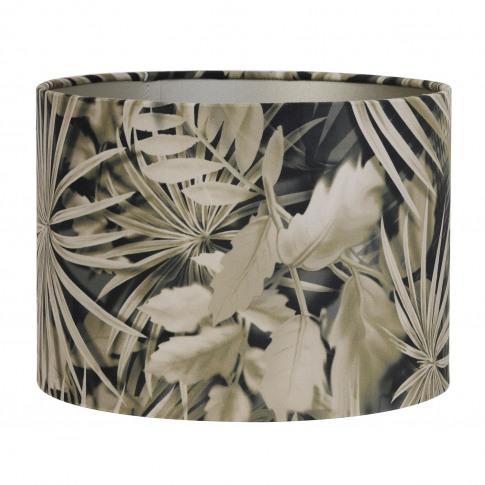 Light & Living Shade Cylinder Velour, Palm