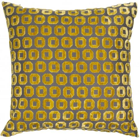 Malini Bentley Cushion, 43cm X 43cm, Mustard