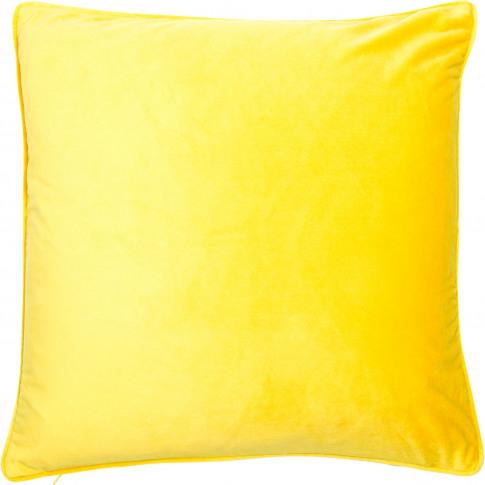 Malini Luxe Cushion, 43cm X 43cm, Mustard