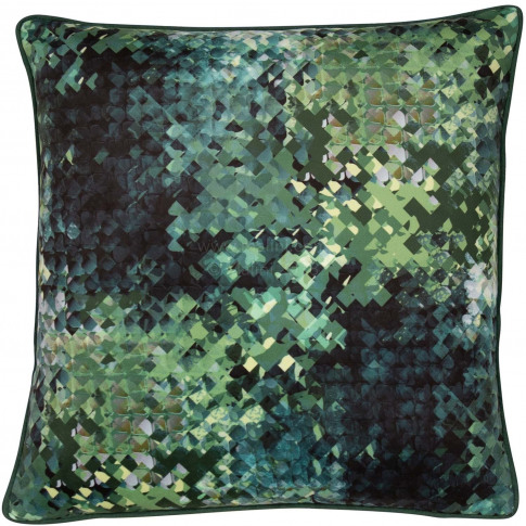 Malini Hudson Cushion, 45cm X 45cm, Green