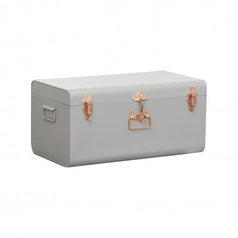 Casa Medium Metal Trunk, Grey