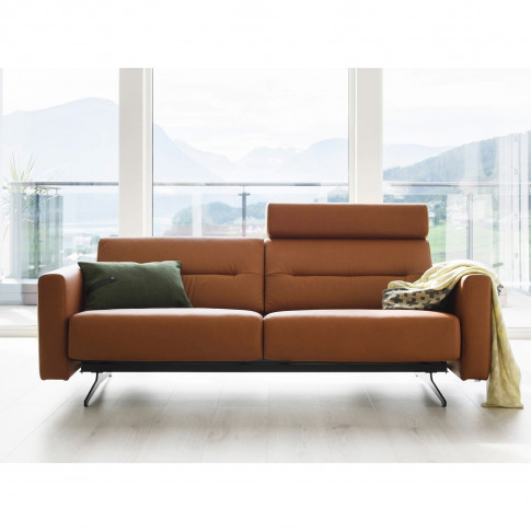 Stressless Stella 2 Seater Leather Sofa With Headres...