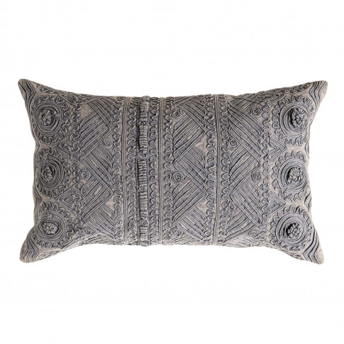 Gallery Pasco Stonewash Cushion 30 X 50cm, Slate Grey
