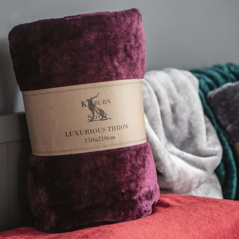 Gallery Maximus Fleece Throw 150 X 210cm, Plum