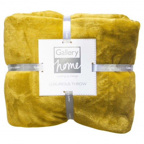 Gallery Flannel Fleece Throw 140 X 180cm, Chartreuse