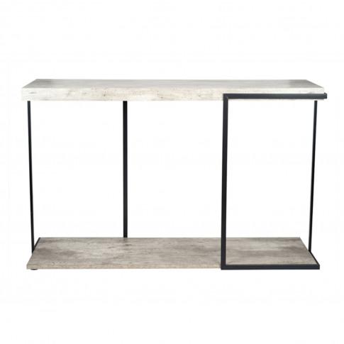 Pacific Concrete Effect Console Table, Grey