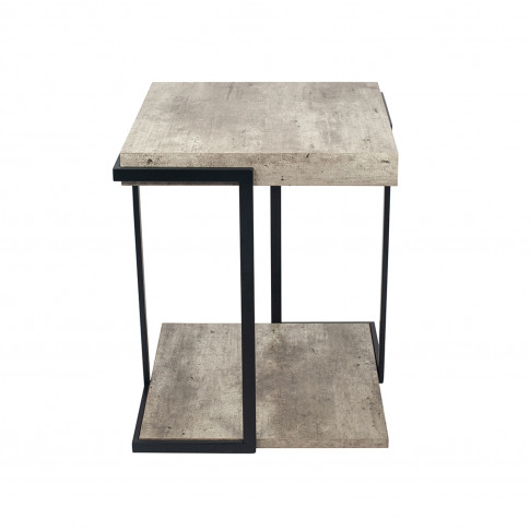 Pacific Concrete Effect Side Table, Grey