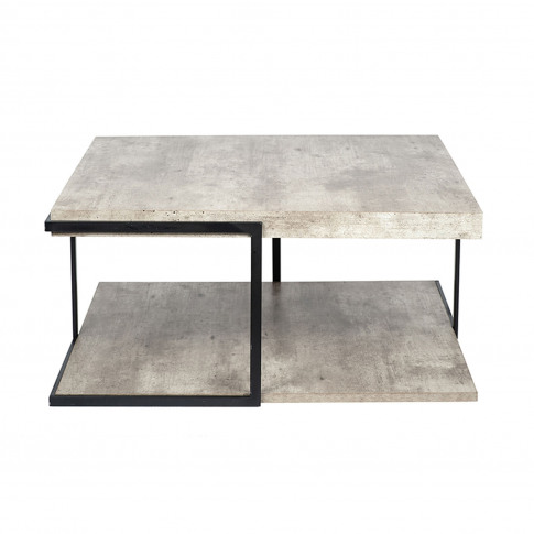 Pacific Concrete Effect Coffee Table, Grey