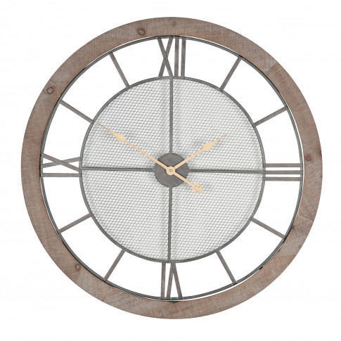 Pacific Lifesetyle Round Wall Clock, Natural Wood