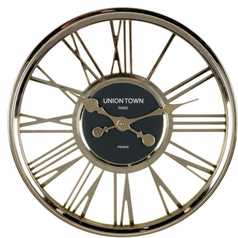Pacific Lifestyle Metallic Round Wall Clock, Gold